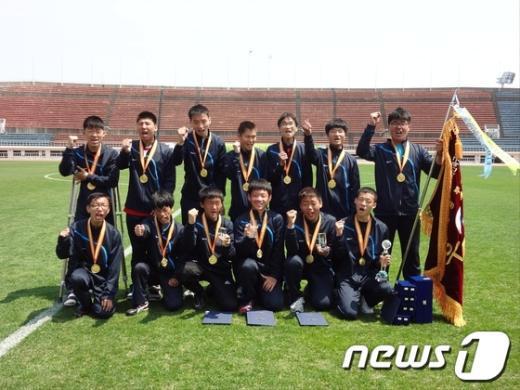 대전 원명학교 축구팀.(사진제공=대전장애인체육회) News1