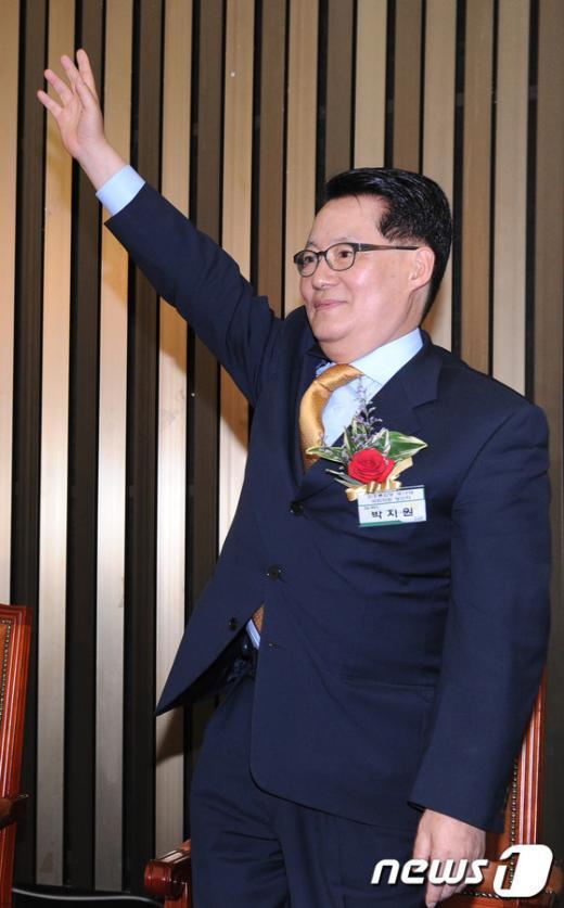 [사진]박지원, 민주통합당 신임 원내대표