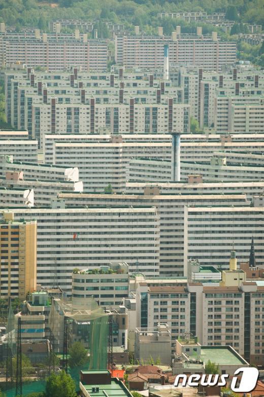 [사진]강남3구 재건축 기대감, 재건축 아파트 강세