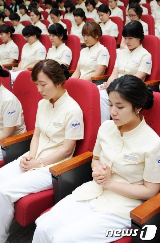 [사진]예비 간호사들의 기도