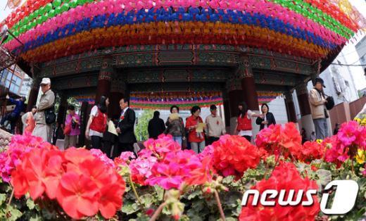 [사진]조계사, 어르신 축제 개최