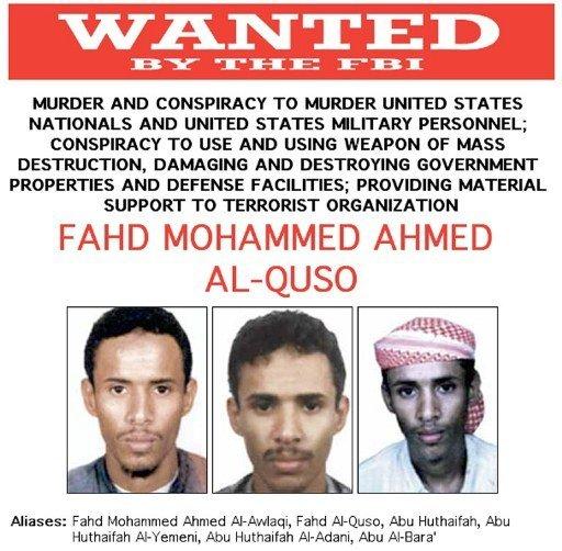 지난 2003년 미국 FBI에 의해 지명수배된 예멘 알카에다 지도자 파하드 알 쿠소  AFP=News1