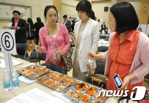 [사진]노원구, 친환경 김치 품평회