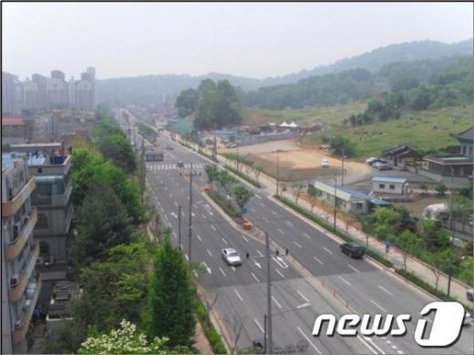 전북 전주 우전로가 9일 확장공사가 완료돼 개통됐다./사진=전주시청 제공 News1