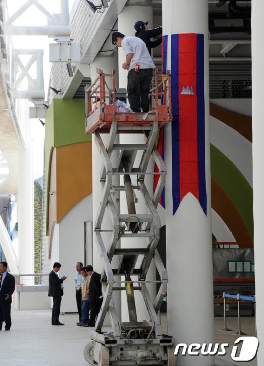 [사진]여수엑스포 막바지 작업 한창