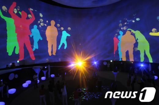 [사진]여수세계박람회 포스코관의 멀티미디어 쇼