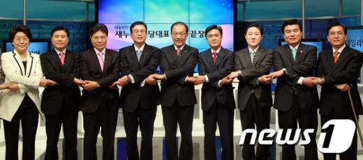 [사진]선전 다짐하는 새누리당 전당대회 출마 후보들