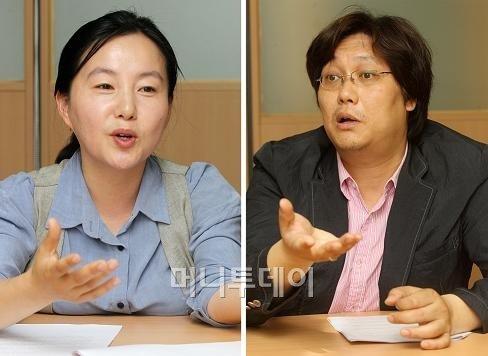 ↑제윤경 에듀머니 대표(왼쪽)과 홍기빈 글로벌정치경제연구소장. ⓒ이동훈 기자=photoguy@