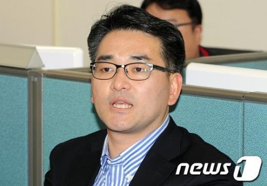 민주통합당 박용진 대변인. 2012.4.15/뉴스1.  News1 이종덕 기자