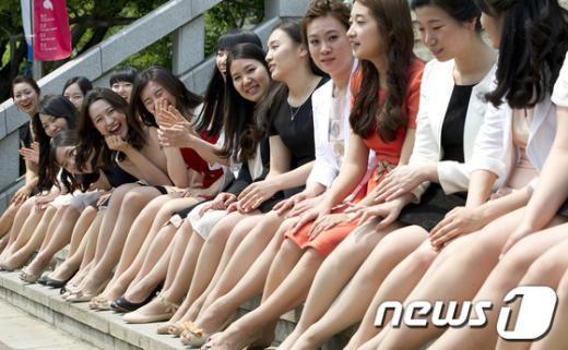 [사진]여대생들의 졸업앨범 촬영