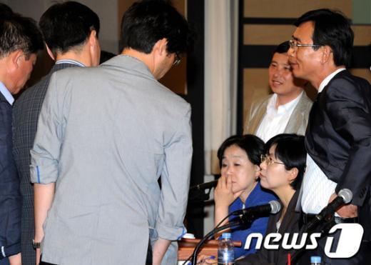 [사진]부드러워진 통합진보당 전국운영위원회