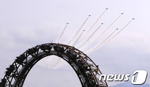 [사진]여수엑스포 하늘 나는 블랙이글스