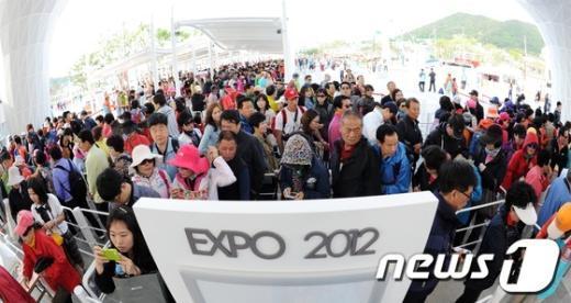 [사진]2012 여수세계박람회 인파!