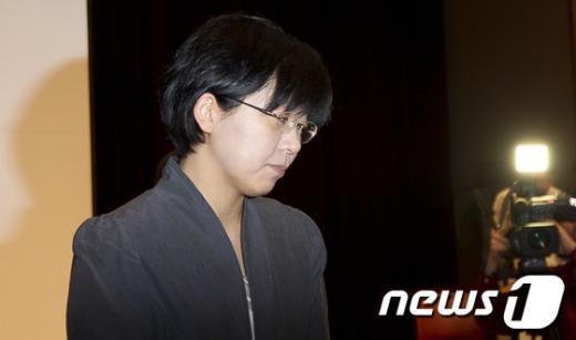 [사진]이정희, 통합진보당 대표 사퇴
