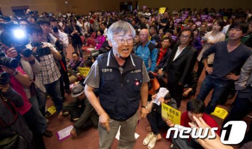 [사진]진통겪는 통합진보당 중앙위원회