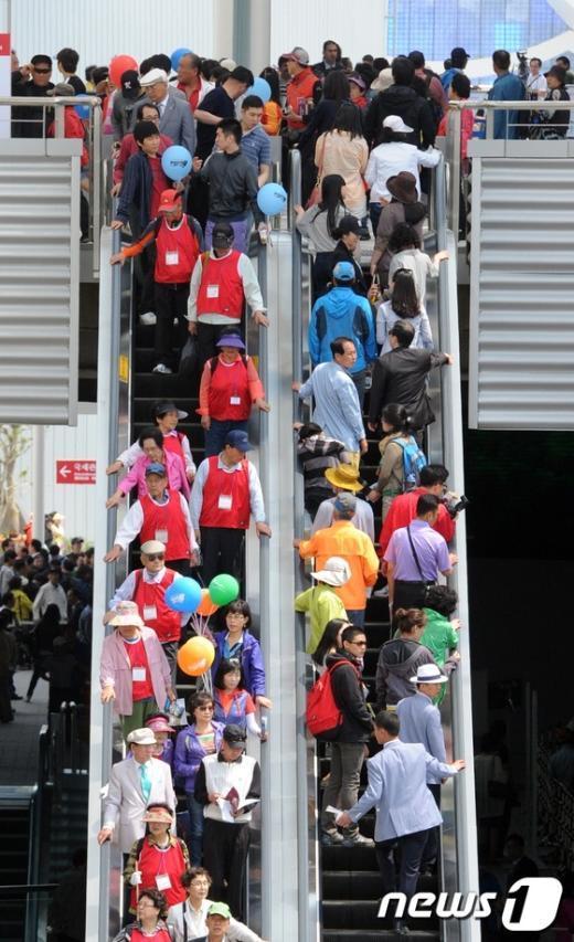 [사진]여수세계박람회장 찾은 관람객들
