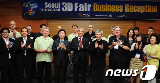 [사진]3D페어 리셉션 참석한 최광식 장관