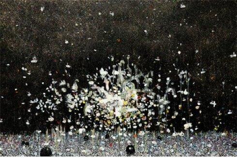 ↑지용현- Cosmic dancer 10, 97x145cm, 캔버스에 유채, 2012