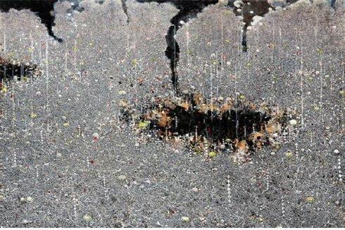 ↑지용현- Cosmic dancer 11, 130x194cm, 캔버스에 유채, 2012