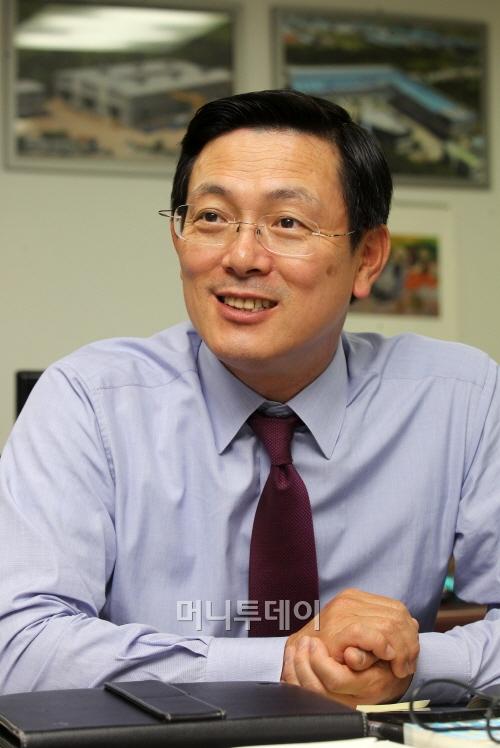 ↑웰크론그룹 이영규 회장(사진=머니투데이 이동훈 기자)
