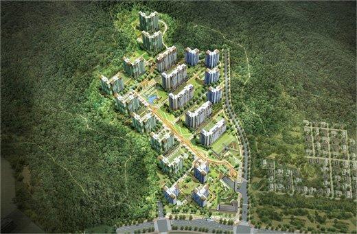 삼성물산 건설부문이 서울 강남구 자곡동 보금자리지구 A6블록에 건설하는 '래미안 강남 힐즈' 조감도 ⓒ사진제공=삼성물산