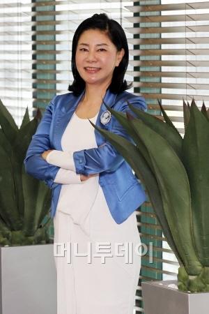 ↑김정문알로에 최연매 회장(사진=머니투데이 임성균 기자)
