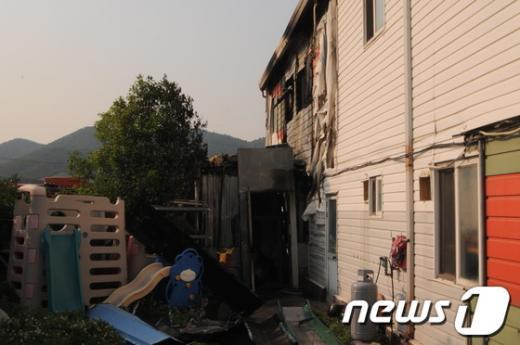 23일 울산 북구의 한 어린이집에서 불이나 휴무 중이어서 인명피해는 발생하지 않았다.  News1