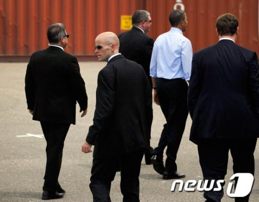 버락 오바마 미국 대통령을 경호하는 비밀경호국 요원들  AFP=News1