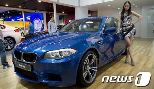 [사진]'스피드의 로망' BMW M5, 국내최초 공개