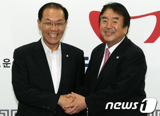 [사진]황우여 대표, 재일 민단 대표 접견