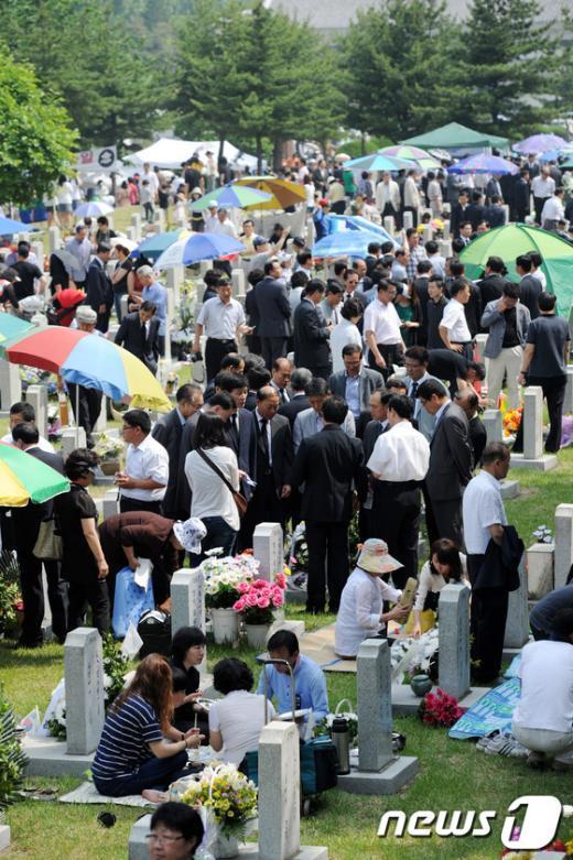 [사진]참배객으로 붐비는 국립현충원