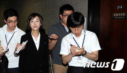 [사진]당기위 회의장 떠나는 김재연 의원