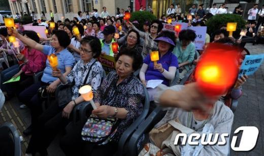 [사진]종북세력 반대 촛불