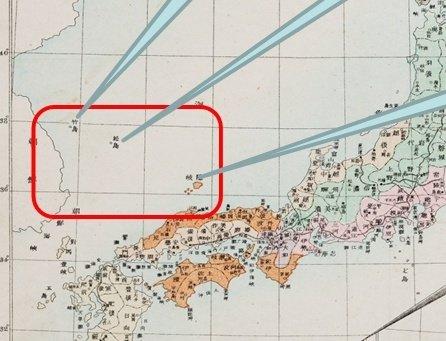 재단이 공개한 고지도 중 오노에이노스케(小野英之助)의 <만국신지도>에 수록된 '대일본제국지도'에는 울릉도와 독도에 시마네현을 표시하는 황색이 칠해져 있지 않다. (출처=동북아역사재단)