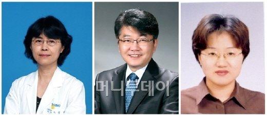 ↑ 1회 광동암학술상수상자. 왼쪽부터 고영혜 교수, 이미가엘 교수, 박숙련 박사.