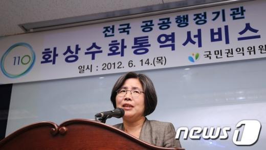 [사진]인사말하는 김영란 권익위원장