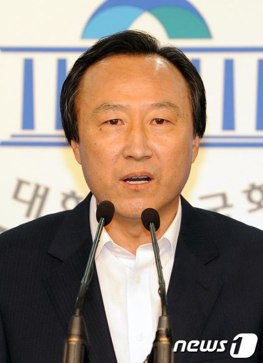 홍일표 새누리당 원내대변인. 2012.5.23/뉴스1  News1 이종덕 기자