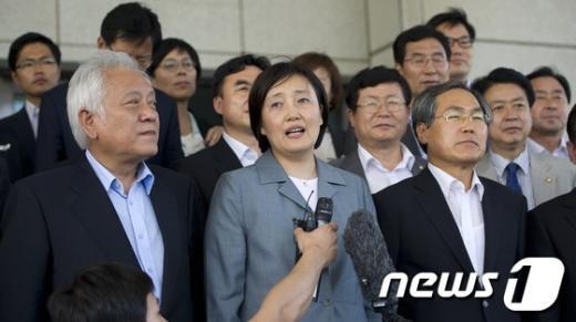 [사진]민주통합당, 대검 항의방문