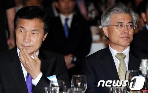 [사진]대선 출마 선언한 손학규와 준비중인 문재인