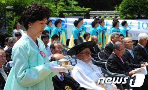 [사진]3.1운동의 근원지...'봉황각' 준공 100주년 기념식