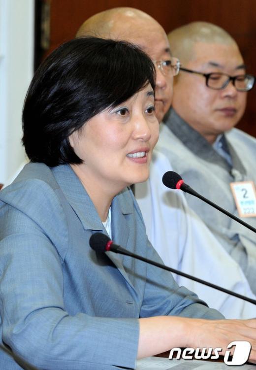 [사진]불교계 만난 박영선 위원장