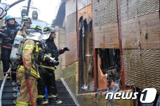 [사진]서초4동 주점 건물서 화재 발생