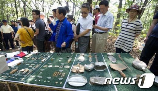 [사진]발굴된 6.25전쟁 전사자 유물