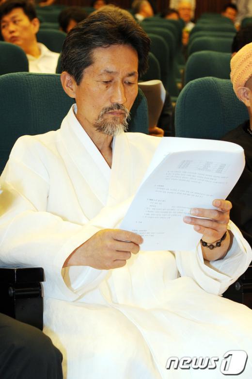 [사진]MBC파업 관련 시국회의 참석한 강기갑