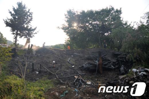 [사진]20일 오후 서초구 청계산기도원 화재 발생…금새 진화
