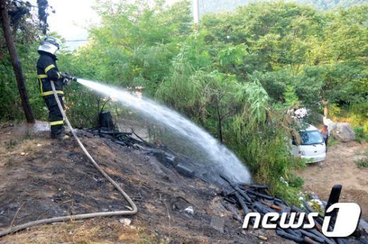 [사진]청계산 화재 초기진압