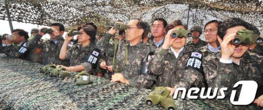 [사진]위장막 아래 새누리당