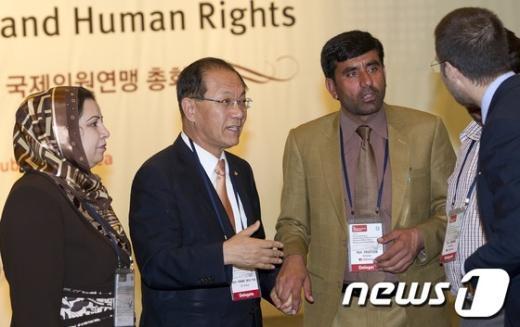 [사진]국제의원연맹 총회 참석한 황우여 대표