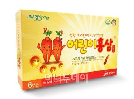 JW중외제약, 어린이용 홍삼 건기식 선봬