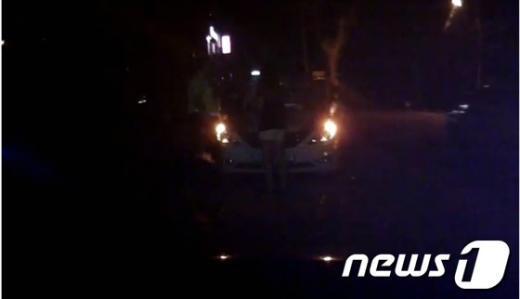 자동차 관련 온라인 게시판에 올라온 영상.  News1